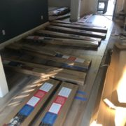 engineered hardwood, wire brushed hickory flooring