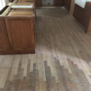 Installed unfinished white oak flooring and weave in