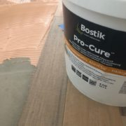 Bostik adhesive used for installing hickory hardwood flooring