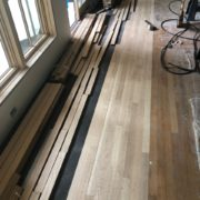 Installing unfinished white oak flooring