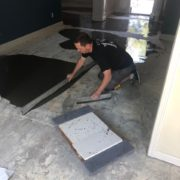 leveling slab for wood flooring installation