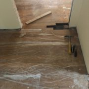 Prep for weave in white oak flooring