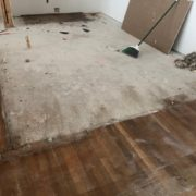 Prep for White Oak flooring install and weave-in