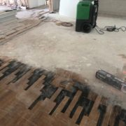 Removed cut White Oak planks for weave in