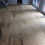 Sanded Southern Yellow Pine plank flooring