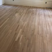 Sanded white oak flooring