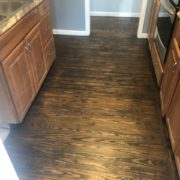Stained and finished Southern Yellow Pine flooring