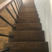 Stained and finished White Oak stair treads