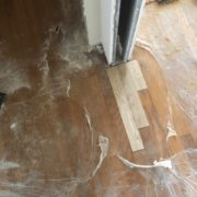 Weave in unfinished white oak doorway