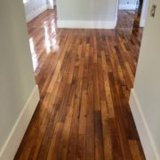 Heart pine plank flooring - refinished
