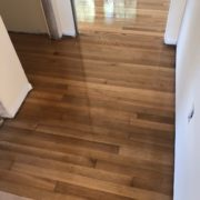 Applying finish to white oak flooring