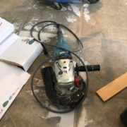 Diamond grinder used for tile floor leveling