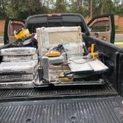 Emser porcelain flooring tile on the truck.