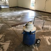 Diamond grinder leveled tile floor