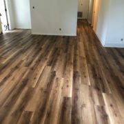 installed Luxury Vinyl Plank flooring