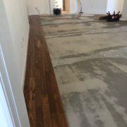 Installing Caribbean rosewood flooring