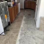 Installing Emser porcelain floor tile - kitchen