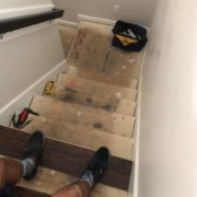 Installing luxury vinyl plank stairs