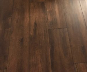 Luxury vinyl plank flooring - installed