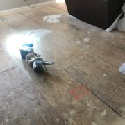 Sanding plywood subfloor seams