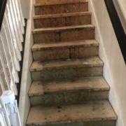 Sanding stair framing