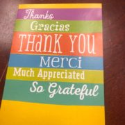 Thank You card from our Dan's Floor Store client!