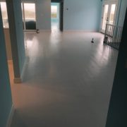 Finishing painted wood floors.