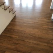 Refinished Red Oak flooring