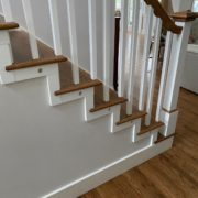 Refinished Red Oak flooring and staircase