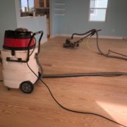 Sanded wood floors