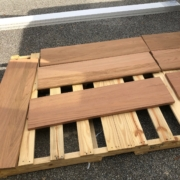 Brazilian Cherry wood stair treads