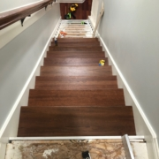 Progress installing Brazilian Cherry stair treads