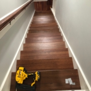 Installation finished - Brazilian Cherry stair treads