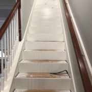 Installing new stair risers - almost done.