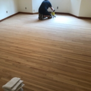 Applying stain to Red Oak flooring