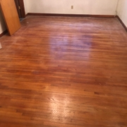 1 1/2' wide Red Oak plank floors - pre-refinishing