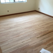 Sanded Red Oak floors