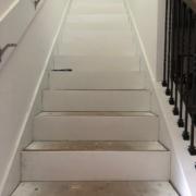Bare stair frame