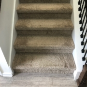 Existing carpeted staircase