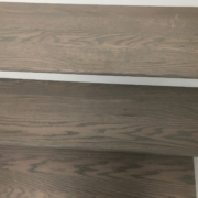 Installed gray Oak stair treads