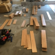 "Installing 5"" wide White Oak flooring"