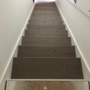Installing gray Oak stair treads