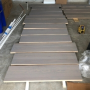 Stain and finish solid Oak stair treads
