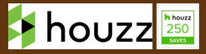 houzz logo with 250 Saves button