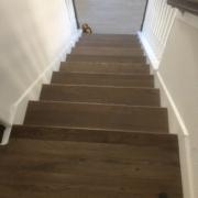 Installed FSC Certified White Oak flooring landing
