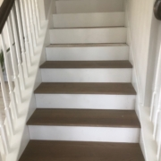 Installing match stained Oak stair treads