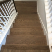 Installed FSC Certified White Oak flooring landing