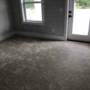 Before - old carpeting to be removed