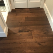 Installed Walnut flooring