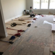 Installing oak plank flooring